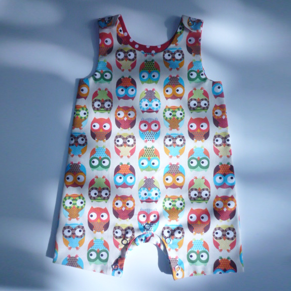 Playsuit in Owl print